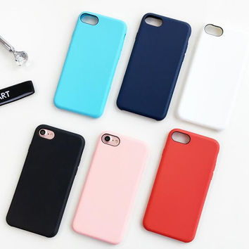 6 Color simple phone case for iPhone 7 7plus 6 6S 6plus 6Splus 1107JM01