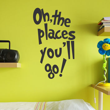 Oh, the Places You'll Go Dr Seuss wall decal