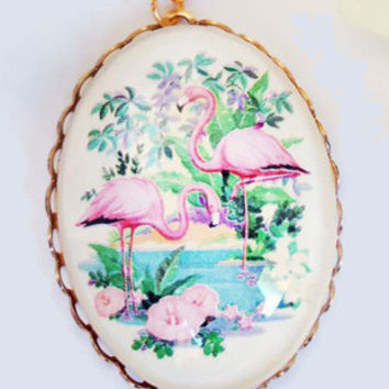 Now or Never Pink Flamingo Necklace