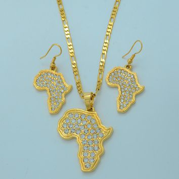 Africa Map Necklaces Earrings and Necklaces