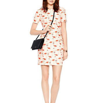 Kate Spade Flamingo Sheath Dress Shell Pink