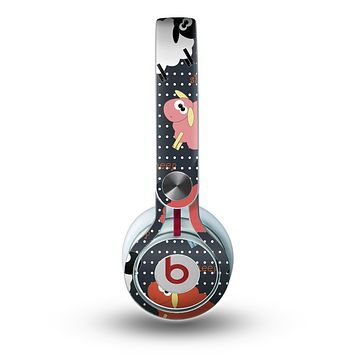 The Colorful Sheep Polka Dot Pattern Skin for the Beats by Dre Mixr Headphones