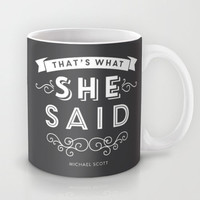 The Office, Michael Scott, That's What She Said, Coffee Mug