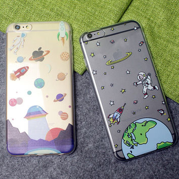 Ultrathin Universe UFO Case Cover for iPhone 6 6s 7 Plus + Gift Box