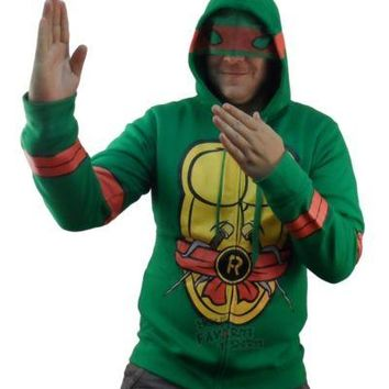 Teenage Mutant Ninja Turtles Raphael Costume Zip Up Hoodie