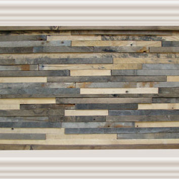 Rustic Wall Art Handmade Of 100% Reclaimed Wood, Wall Art, Wood Wall Art