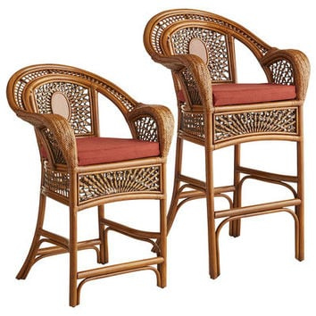 Azteca Bar & Counter Stools - Pecan Brown