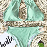 Cupshe Peppermint Wind Bikini Set