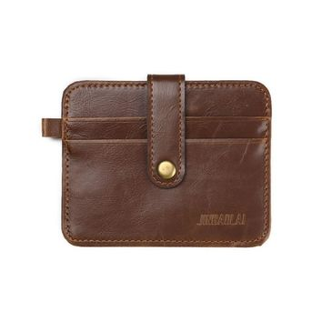 JINBAOLAI Mens Leather Clutch Billfold Wallet Credit ID Card Slim Purse Men's Wallet carteras mujer