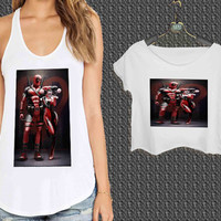 Harley Quinn and Deadpool For Woman Tank Top , Man Tank Top / Crop Shirt, Sexy Shirt,Cropped Shirt,Crop Tshirt Women,Crop Shirt Women S, M, L, XL, 2XL**