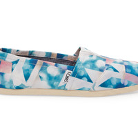 TOMS Clearwater Satin Cloudscape Women's Classics Blue