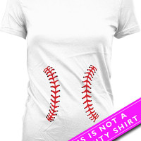 Pregnancy Announcement T Shirt Funny Pregnancy Shirt Baseball T Shirt Maternity Clothing Pregnancy Tops Mother To Be Ladies Tee MAT-540