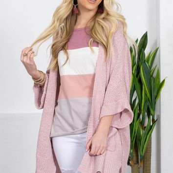 Aussie Pockets Knitted Cardigan | Lilac