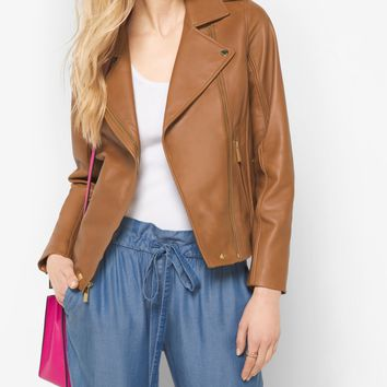 Leather Moto Jacket | Michael Kors