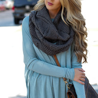 Forever & Infinity Gray Scarf - One
