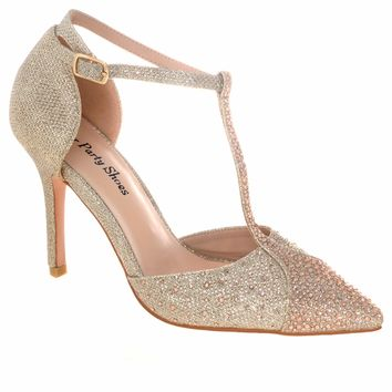 Your Party Shoes Piper Sparkling Formal Prom Stilettos