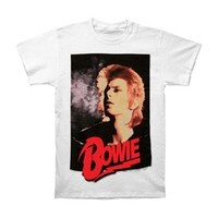 David Bowie Men's  Retro Bowie T-shirt White
