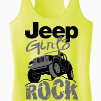 Jeep Girls Rock Racerback Tank Top