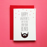 Beard Valentine's Day Card, Funny Beard Valentines Greeting Card, Beard Card Husband, Beard Valentines Card For Boyfriend, Love Beard Card