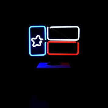 Desktop Texas Flag Neon