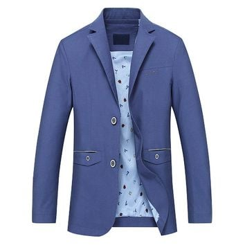Cotton Medium Long Casual Jacket Coats Men