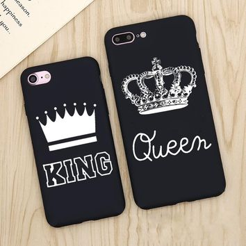 King and Queen Matte Phone Cases for iPhone