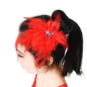 Feather Head Flower Headpiece Feather Hair Accessories Stage Apparel & Accessories For Women And Children