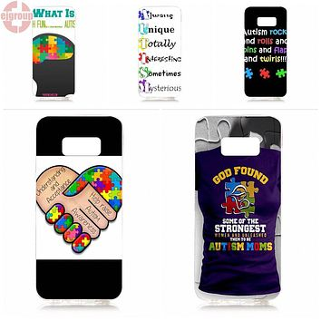 EJGROUP For Samsung Galaxy S8 5.8 inch G950 G950F SM-G9500 Soft TPU Silicon Best Cases Autism Awareness