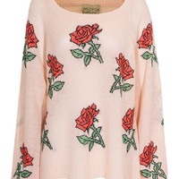 WILDFOX  A Rose Is A Rose Baby Gemusterter Strickpullover - What's new