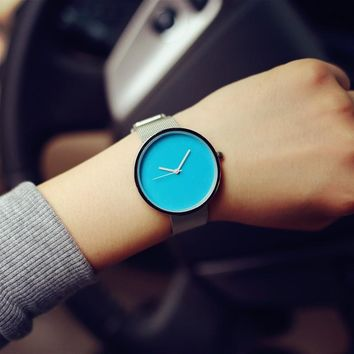 Great Deal Designer's Awesome New Arrival Gift Good Price Trendy Korean Stylish Fashion Casual Simple Design Stainless Steel Band Watch [6045834753]