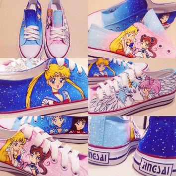 Sailor Moon Hand-painted Shoes