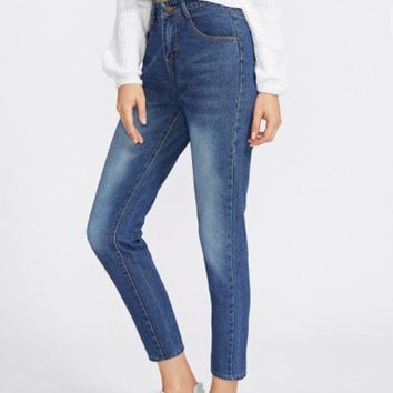 Boyfriend Fit Ankle Jeans