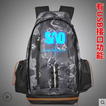 Anime Backpack School kawaii cute Sword Art Online COSPLAY Casual fashion men and women large-capacity travel backpack AT_60_4