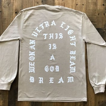 I Feel Like Pablo Sand Long Sleeve Tee Shirt Kanye West Yeezy TLOP