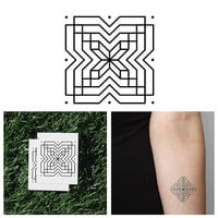 X Marks The Spot - Temporary Tattoo (Set of 2)