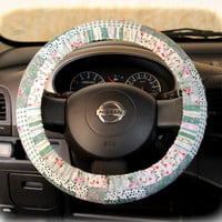 by (CoverWheeel) Steering wheel cover for wheel car accessories Floral green Wheel cover