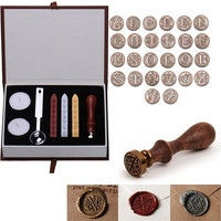 26 Letters Alphabet Initial Sealing Wax European Classic Brass Copper Head Stamp [8270517121]