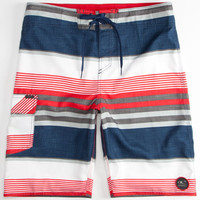 O'neill Santa Cruz Stripe Mens Boardshorts Navy  In Sizes