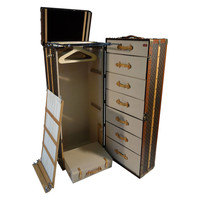 Louis Vuitton Monogramme Huge Wardrobe Trunk / Malle Armoire 1980s