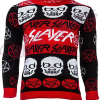 UNISEX SLAYER JUMPER ANARCHY GOTHIC PUNK ALCHEMY SWEATER METAL ROCK CHRISTMAS