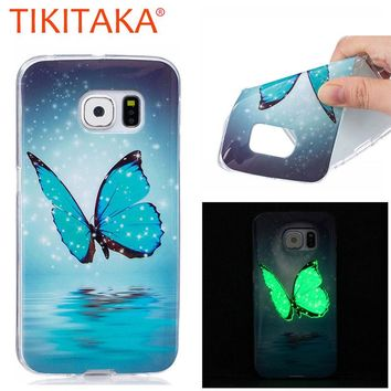Glow In The Dark Cover For Samsung Galaxy S6 S7 edge S5