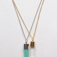 Edgy Bullet Necklace Duo | Wet Seal