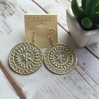 Lena Medallion Earring (More Colors)