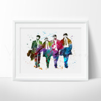 The Beatles Watercolor Art Print