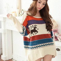 New Women Ladies Casual Loose Asymmetric Knit Coat Top Sweater Cardigan Pullover
