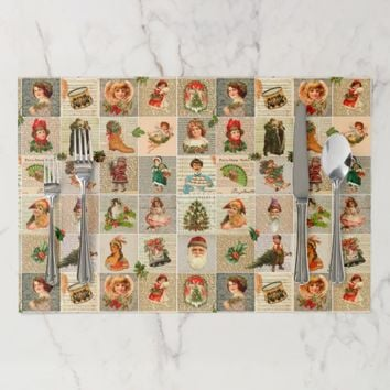 Vintage Christmas Large Tearaway Placemat