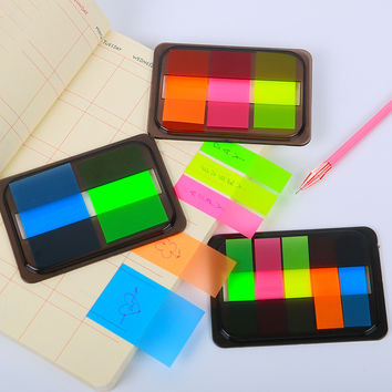1pcs Novelty Fluorescent Candy Color Self Adhesive Memo Pad Sticky Notes Sticker Label Escolar Papelaria School Office Supply