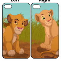 Simba and Nala Couple iPhone 4S 5S 5C 6 6Plus, iPod 4 5, LG G2 G3 Nexus 4 5, Sony Z2 Couple Cases