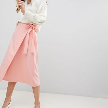 ASOS Tailored Midi Simple Wrap at asos.com