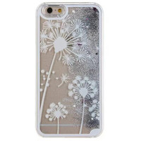 White dandelion quicksand mobile phone case for iphone 5c 5 5s SE 6 6s 6plus 6s plus + Nice gift box!